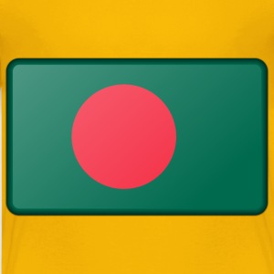 Flag of Bangladesh (bevelled) - Kids' Premium T-Shirt