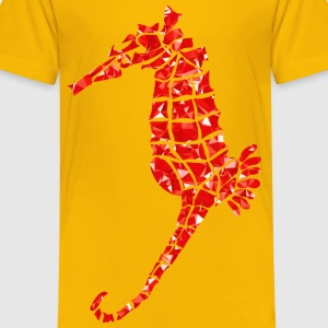 Ruby Stylized Seahorse Silhouette - Kids' Premium T-Shirt