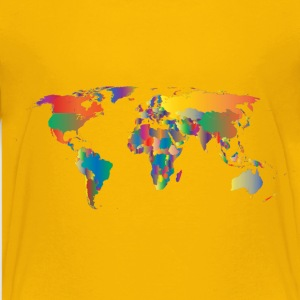 Prismatic World Map 5 - Kids' Premium T-Shirt