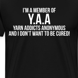 Member of Y.A.A. Yarn Addicts Anonymous Crochet  T-Shirts - Men's Premium T-Shirt