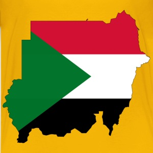 Sudan Flag Map With Stroke - Kids' Premium T-Shirt