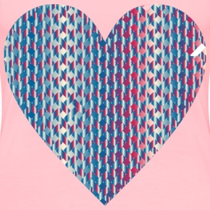 Colorful Heart Lattice Weave 7 - Women's Premium T-Shirt