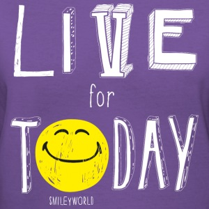 SmileyWorld Quotes Live For Today - Women's V-Neck T-Shirt
