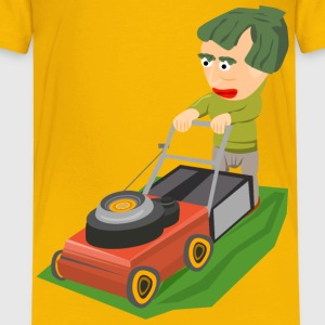 Mowing the lawn - Kids' Premium T-Shirt
