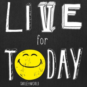 SmileyWorld Quotes Live For Today - Tote Bag