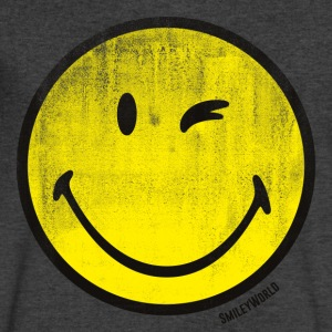 SmileyWorld Classic Winking Smiley - Men's V-Neck T-Shirt by Canvas
