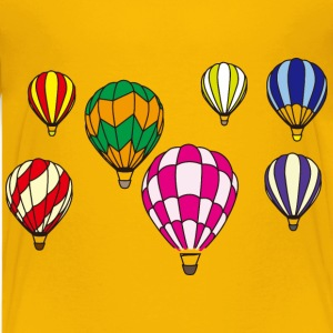 Hot Air Balloon Scene Minus Background - Kids' Premium T-Shirt