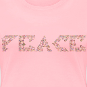 Chromatic Peace No Background - Women's Premium T-Shirt