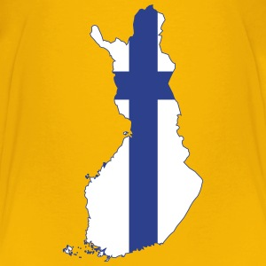 Finland map with flag - Kids' Premium T-Shirt