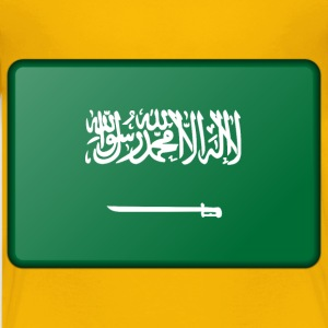 Saudi Arabia flag (bevelled) - Kids' Premium T-Shirt