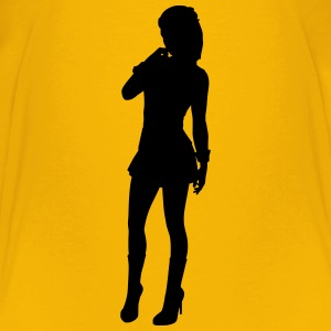 Shortskirted woman - Kids' Premium T-Shirt