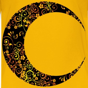 Gold Floral Crescent Moon Mark II 6 - Kids' Premium T-Shirt