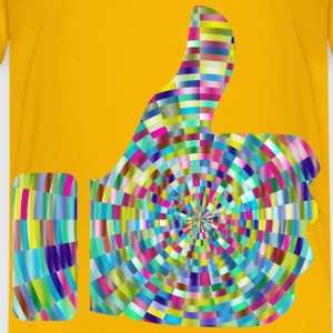 Prismatic Radial Thumbs Up 4 - Kids' Premium T-Shirt