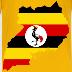 Uganda Flag Map - Kids' Premium T-Shirt