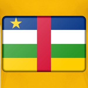 Central African Republic flag (bevelled) - Kids' Premium T-Shirt
