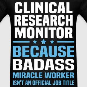 Clinical Research Monitor Tshirt - Men's T-Shirt