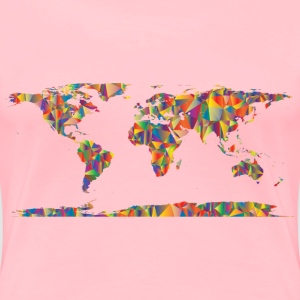 Low Poly World Map - Women's Premium T-Shirt