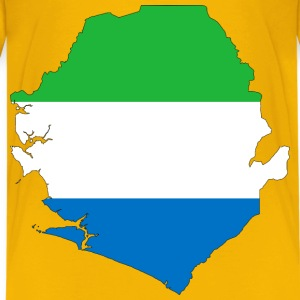 Sierra Leone Flag Map With Stroke - Kids' Premium T-Shirt