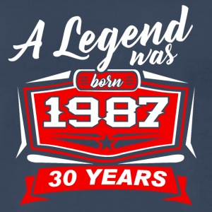 30 YEARS Birthday 1987 a legend T-Shirt - Hoodie - Men's Premium T-Shirt