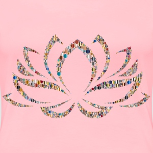 Colorful Lotus Flower Circles 5 - Women's Premium T-Shirt