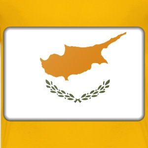 Cyprus flag (bevelled) - Kids' Premium T-Shirt