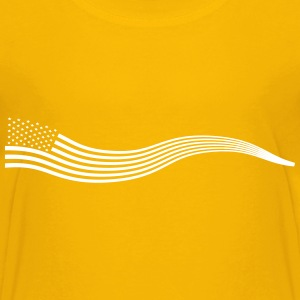 Wavy USA Flag Banner Variation 2 - Kids' Premium T-Shirt