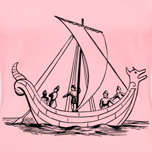 Saxon ship - Women's Premium T-Shirt