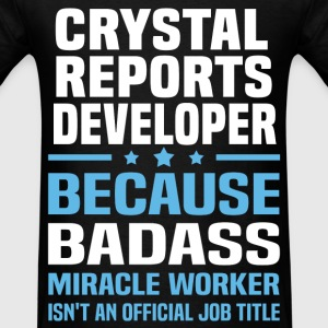 Crystal Reports Developer Tshirt - Men's T-Shirt