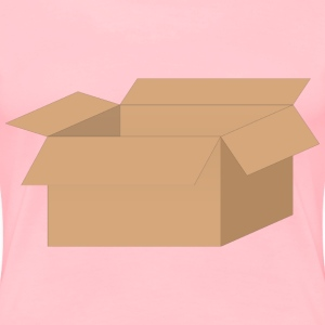 Open Cardboard Box - Women's Premium T-Shirt