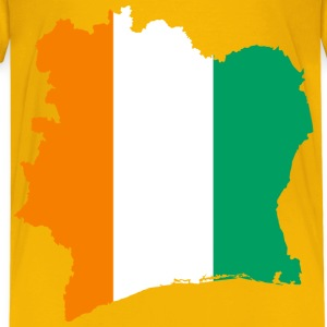 Ivory Coast Flag Map - Kids' Premium T-Shirt