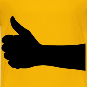 Thumbs Up Hand Silhouette - Kids' Premium T-Shirt