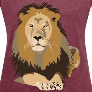 lion T-Shirts - Women´s Rolled Sleeve Boxy T-Shirt