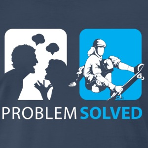 Problem Solved Skateboard T-Shirts - Men's Premium T-Shirt