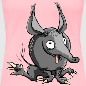 Cartoon Armadillo - Women's Premium T-Shirt