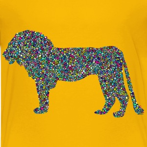 Polyprismatic Tiled Lion Profile Silhouette With  - Kids' Premium T-Shirt