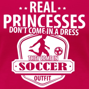 Real Princesses Soccer T-Shirts - Women's Premium T-Shirt