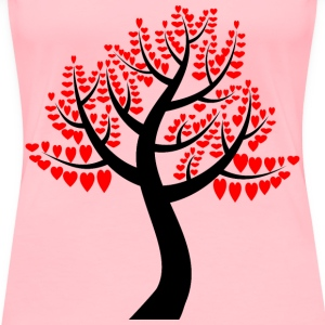 Simple Hearts Tree - Women's Premium T-Shirt