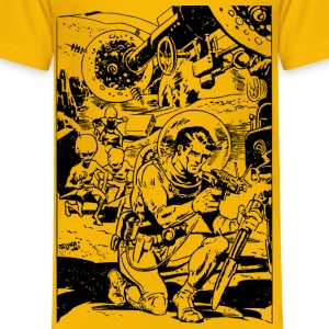Spaceman and Aliens - Kids' Premium T-Shirt