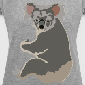 Koala T-Shirts - Women´s Roll Cuff T-Shirt