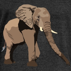 Elephant Long Sleeve Shirts - Women's Wideneck Sweatshirt