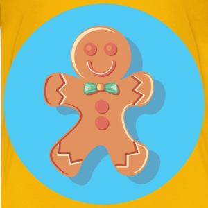 Gingerbread Man Icon - Kids' Premium T-Shirt