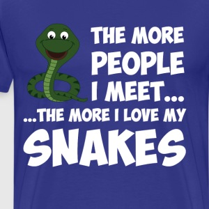 The More People I Meet More I Love Snakes T-Shirt T-Shirts - Men's Premium T-Shirt