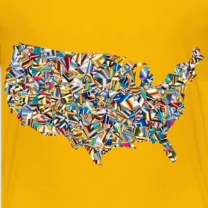 Psychedelic Low Poly America USA Map - Kids' Premium T-Shirt