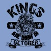 Kings Are Born In October T-Shirts - Unisex Tri-Blend T-Shirt by American Apparel