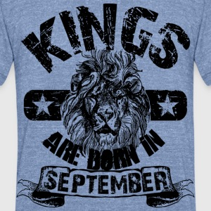 September Birthday T-Shirts - Unisex Tri-Blend T-Shirt by American Apparel