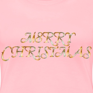 Merry Christmas No Background - Women's Premium T-Shirt