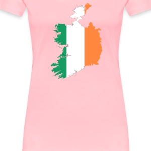 Republic Of Ireland Map Flag - Women's Premium T-Shirt
