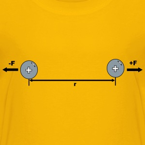 Physic diagram: like charges repel - Kids' Premium T-Shirt