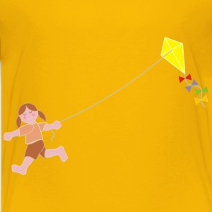 Girl Flying Kite - Kids' Premium T-Shirt