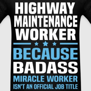 Highway Maintenance Worker Tshirt - Men's T-Shirt